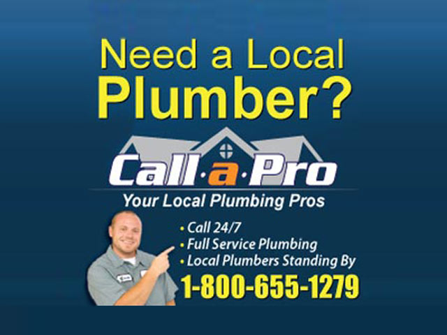 Need A Local Plumber? Call A Pro at 1-800-655-1279